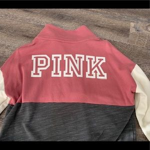 VS Pink Half-Zip Jacket